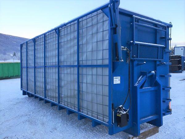 Krokkasse med hydraulisk tak med 270 grader åpning